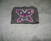 Black bag with purple butterfly