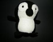 Black and White Crocheted Penguin