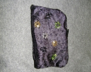 black velvet bag with stars