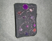 Black bag with purple sequins