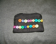 Black bag with 2 rows buttons
