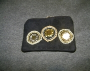 Black bag with beaded circles