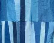 Denim stripes lap quilt