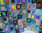 Denim window quilt