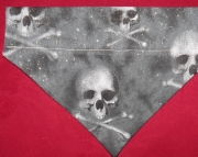 Glitter Skull Over the Collar Bandana-m