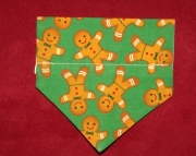 gingerbread over the collar bandana-xs