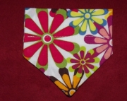 Flower Power Over the Collar Bandana-xs