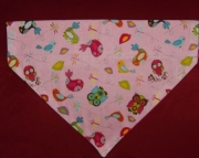 Pink Owls Over the Collar Bandana-l