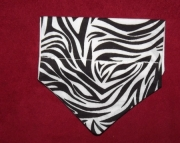 Zebra Over the Collar Bandana-xs