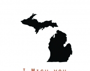 I Mich You  Greeting Card