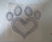 PAW Heart Window Decal