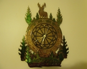 Deer Clock Metal Art PROTOTYPE