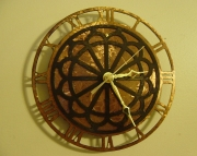Metal Lace Clock small