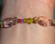 Fancy Pink and Green Bracelet
