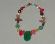 Many Shades of Green and Pink Bracelet