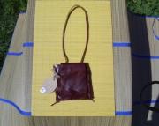Square leather medicine pouch
