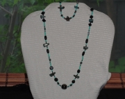 turquoise hematite and stars set
