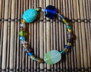 Rainbow Glass Beaded Bracelet