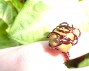 Peanut Butter Brown Michigan Stone Ring Size 34