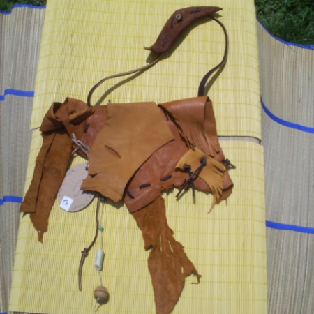 Gold Soft Leather Medicine Pouch