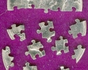 25 Piece Jigsaw Puzzle Made From a Old $