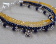 Go Blue Michigan Fan Bracelet