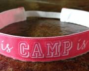 Life is Camp is Life No Slip Headband