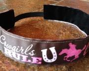 Cowgirls Rule No Slip Headband