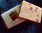 Cherry Goat Milk Soap Slices