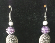 Faucet Purple Stick Earrings