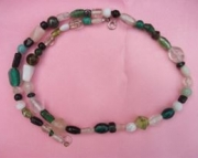 Green and White Glass Necklace