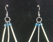 Porcupine Quill Earrings Crystals
