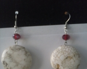 Round Natural Stone Earring