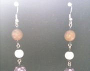 Shimmering Purple Dangle Earring