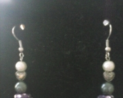Shimmer Purple and Silver Heart Earring