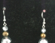 Db Silver and Gold Faucet Cut Earrings