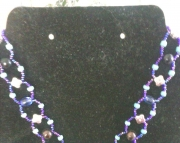 Blue Charm Hoop Necklace