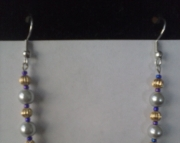 Gold and Silver Stick Earring