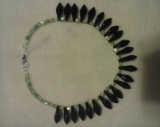 Green and Black Funky Necklace