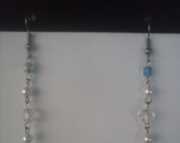Faucet Blue and Crystal Dangle Earring
