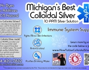 8 Ounce Colloidal Silver 10 PPM AntiMicroblal Hand Cleaner