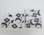 SALE Handmade Card Black Flowers on White Tissue Lavender Accents Celebrate Birthday Friends