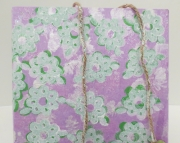 Baby or Girls Wall Art White  green flowers with apples