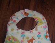 Baby Girl Fox Bib
