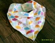 Umbrellas and Polka Dots Fashion Neckerchief Baby Scarf