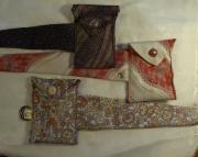 Belt Pouch  Recycled Necktie