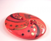 Red Spiral Focal Button