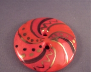 Red Spiral Focal Button