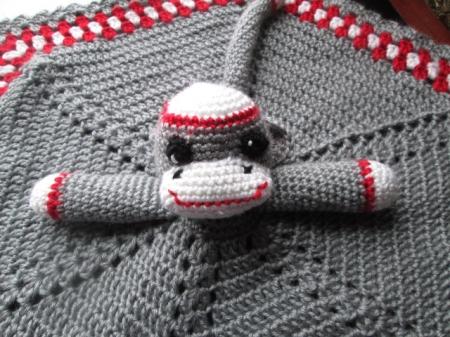 Sock Monkey Snuggle Monkey