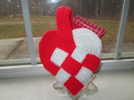 Danish Heart Woven Basket